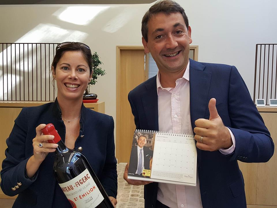 Frédéric with Cécile Loqmane, Marketing and Communication Manager of Château-Figeac