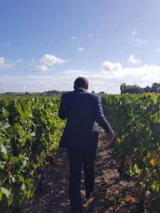 I had to share one of my favorite photos that I ever took since I started the blog: Frédéric going through the vineyards and examining grapes
