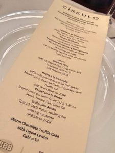Cirkulo Spanish Wine Dinner hosted by BestWorld Beverages