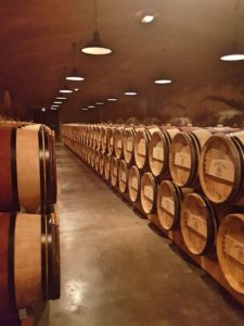 Château Dutertre's barrel room