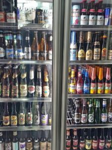 Huge beer selection in Booze Shop
