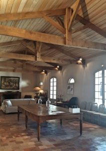 The interiors of Ferme Suzanne