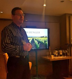 Mark Beringer, Chief Winemaker of Beringer Vineyards, during the Beringer Master Class