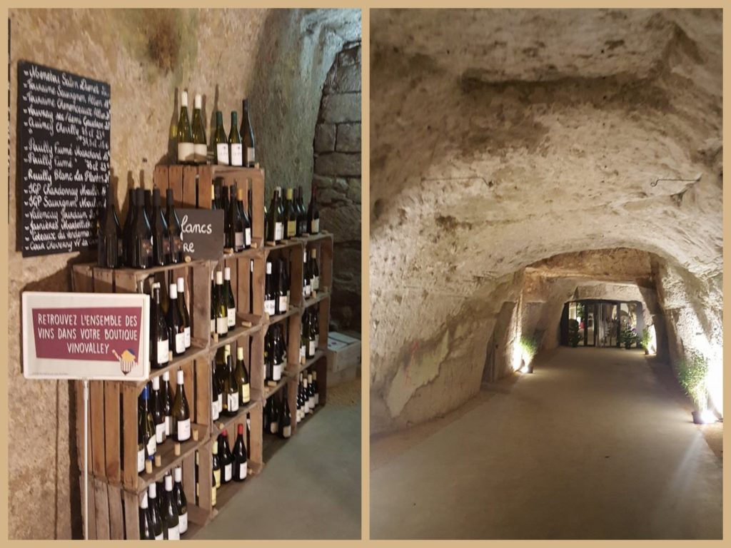 Where else can someone take a wino to dinner? A restaurant in a cave, bien sûr!
