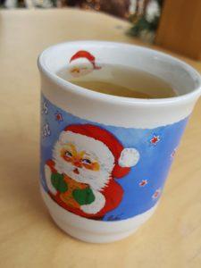 Glühwein in served festive little cups