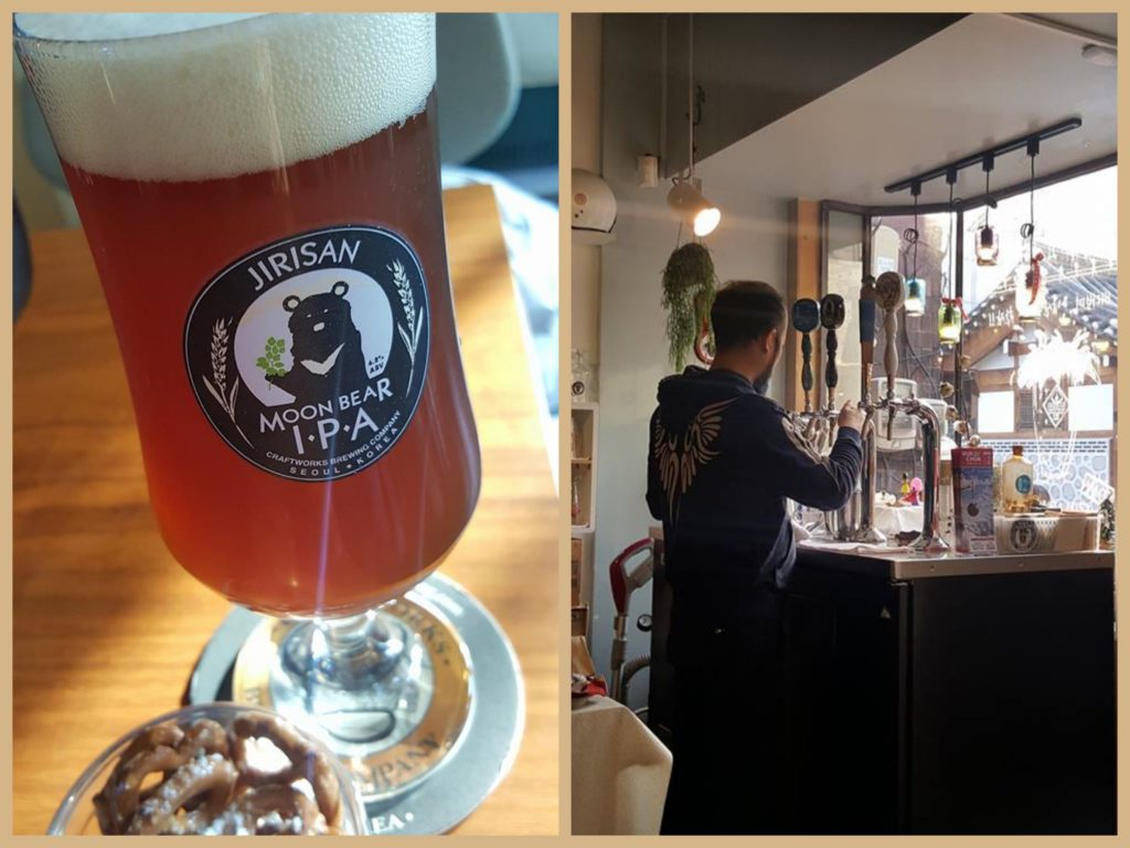 Seoul has a thriving craft beer culture. I had to try the bear beer, of course!