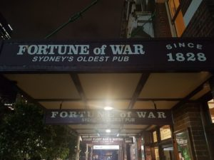 Fortune of War, the oldest pub in Sydney
