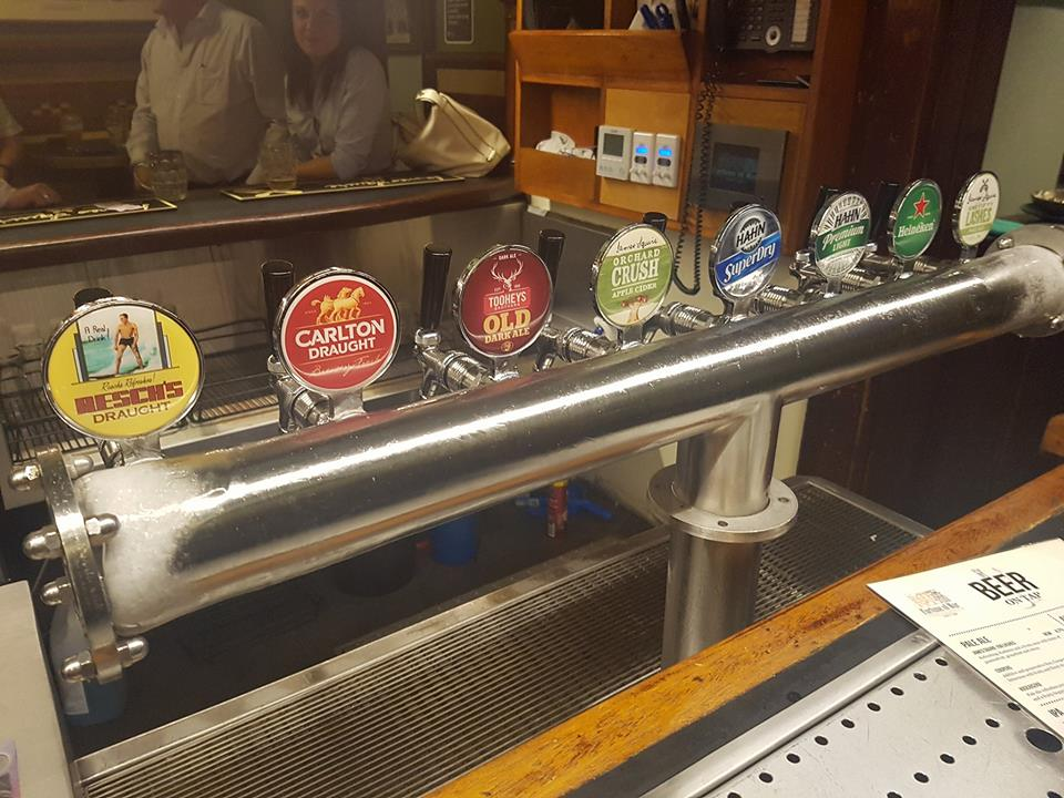 The local Tooheys on tap